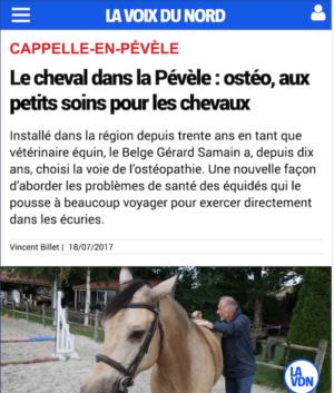 Article sur un l'Ostéopathe du Nord-Pas-de-Calais Gérard Samain